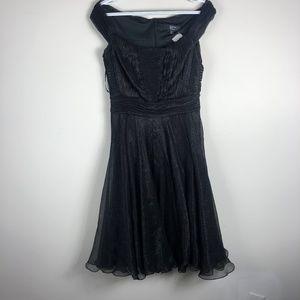 Tadashi Collection Black Off the Shoulder Dress 8